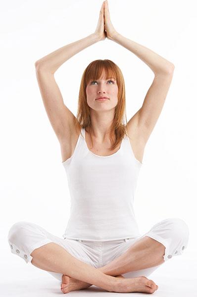 woman doing a yoga pose