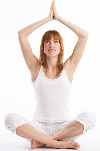 woman doing a yoga pose